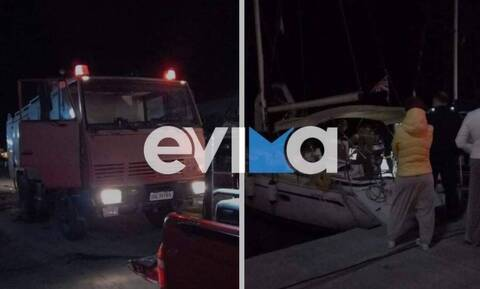 Πυρκαγιά σε ιστιοφόρο στην Κάρυστο: Στο νοσοκομείο οι τέσσερις επιβαίνοντες
