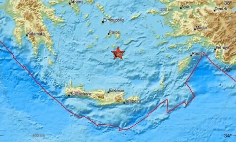 Σεισμός ΤΩΡΑ κοντά στη Σαντορίνη - Αισθητός στο νησί (pics)