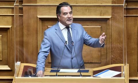 Βουλή - Άδωνις Γεωργιάδης: Ο Τσίπρας είναι ο μεγαλύτερος φορομπήχτης πρωθυπουργός από το 1830