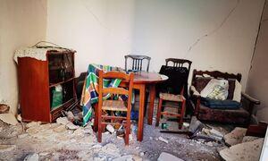 Αποστολή Newsbomb.gr στο Αρκαλοχώρι Κρήτης: Σεισμός την ώρα που κάτοικος μιλάει στην κάμερα