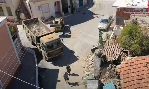 Σεισμός Κρήτη: Βίντεο από drone αποτυπώνει την μεγάλη καταστροφή στο Αρκαλοχώρι