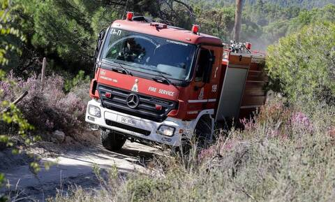 Φωτιά στα Σπάτα - Κινητοποίηση της Πυροσβεστικής, δεν απειλούνται κατοικίες κι επιχειρήσεις