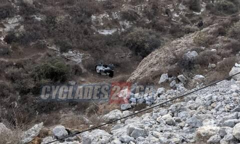 Τροχαίο στη Σαντορίνη: Γουρούνα κατέληξε σε γκρεμό 20 μέτρων – Τραυματισμένες δύο τουρίστριες
