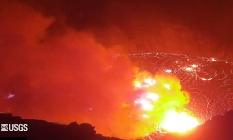 Χαβάη: «Ξύπνησε» πάλι το ηφαίστειο Κιλαουέα - Η συγκλονιστική στιγμή της έκρηξης