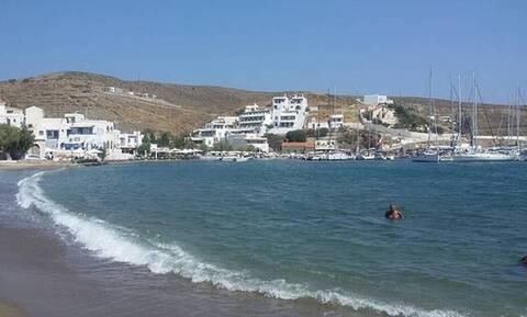 Ελληνική παραλία έχει μισό κρύο και μισό ζεστό νερό