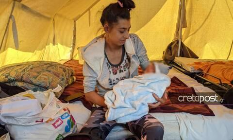 Σεισμός στην Κρήτη: Συγκίνηση για βρέφος 10 ημέρων που μένει σε σκηνή -Τι δείχνουν οι εξετάσεις του