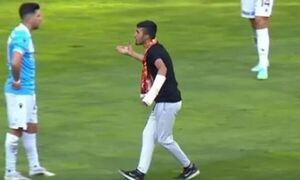 Turkey: A fan of… fell to Tassos Bakaceta during the match!  (video)