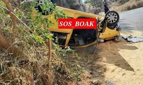 Τροχαίο δυστύχημα στο Ρέθυμνο 4 Οκτωβρίου