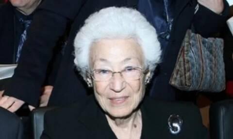 Πέθανε η Ουρανία Εφραίμογλου - Ήταν πρόεδρος του Ιδρύματος Μείζονος Ελληνισμού