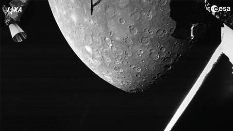 Το BepiColombo της ESA αποκαλύπτει τη σημαδεμένη επιφάνεια του Ερμή