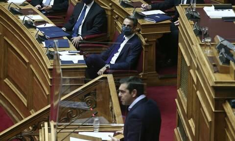 Τσίπρας Μητσοτάκης ΣΥΡΙΖΑ πανδημία κοινωνικά θέματα