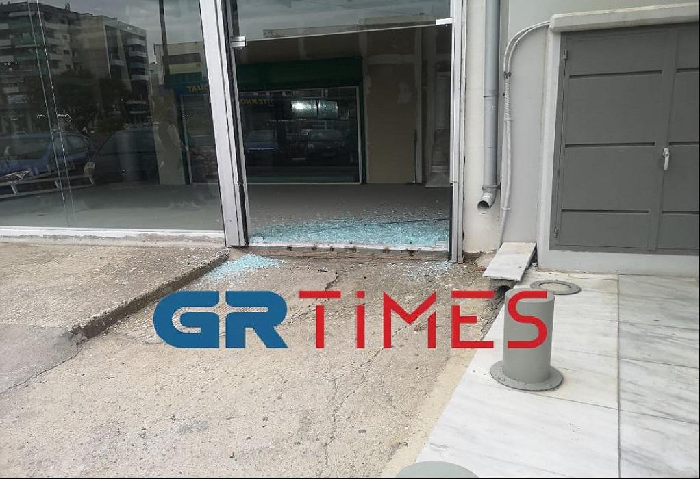 Το κατάστημα που εισέβαλε το αυτοκίνητο στη Θεσσσαλονίκη
