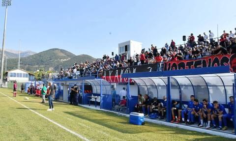 Κύπελλο Ελλάδας: Χαμός στο Παναχαϊκή-Αιγάλεω - Διακοπή λόγω κροτίδας στον πάγκο του Σίτι