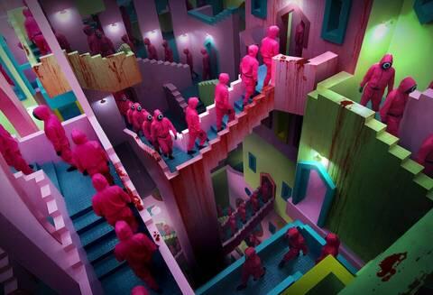 To Netflix μας βάζει για ύπνο με livestream τις… ατελείωτες σκάλες του Squid Game!