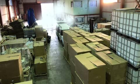 Μαφία λαθραίων τσιγάρων: Έφοδος της ΕΛ.ΑΣ. σε εργοστάσιο 1200 τ.μ. στην Εύβοια