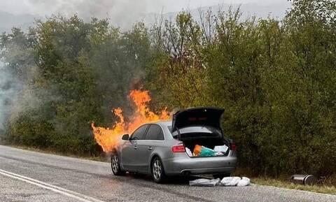 Στις φλόγες το αυτοκίνητο του Παναγιώτη Ψωμιάδη: «Δεν είχα ούτε φρένα, ούτε τον έλεγχο του τιμονιού»