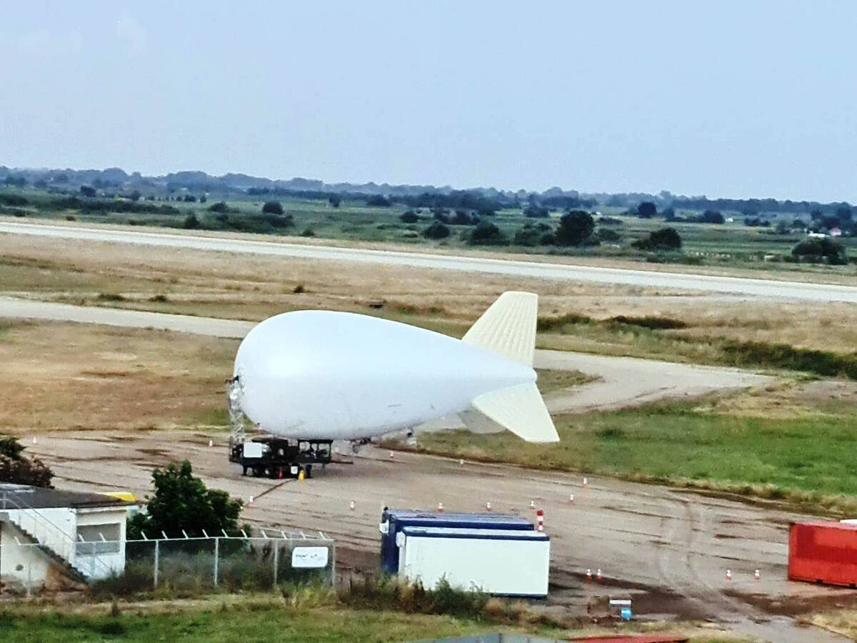 To Δέσμιο Αερόστατο στον αερολίμενα «Δημόκριτος»