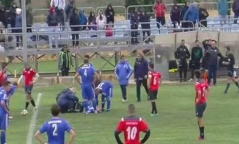 «Δολοφονικό» τάκλιν σε τοπικό αγώνα - Πήγε απευθείας στο νοσοκομείο ο παίκτης (video+photos)