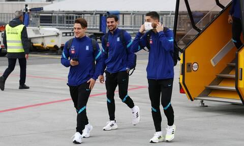 Εθνική ομάδα: Προσγειώθηκε στη Στοκχόλμη – Την Τρίτη (12/10) ο τελικός με Σουηδία