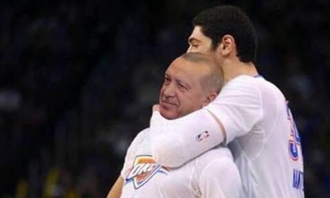 Ο Ένες Καντέρ έκανε «κεφαλοκλείδωμα» στον Ερντογάν – «Άλλη μια μέρα, άλλη μία ευκαιρία»