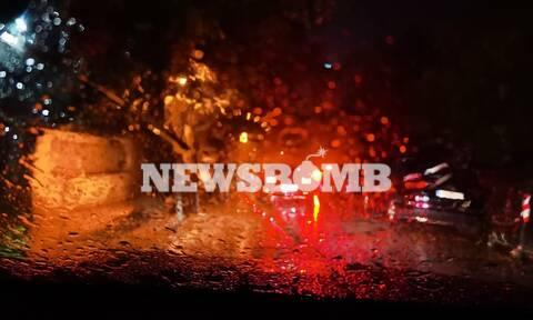 Καιρός τώρα: Βίντεο και φωτογραφίες από την καταιγίδα στην Αττική