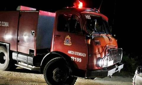 Έκρηξη μετασχηματιστή σε κολώνα της ΔΕΗ στο Χιλιομόδι Κορινθίας