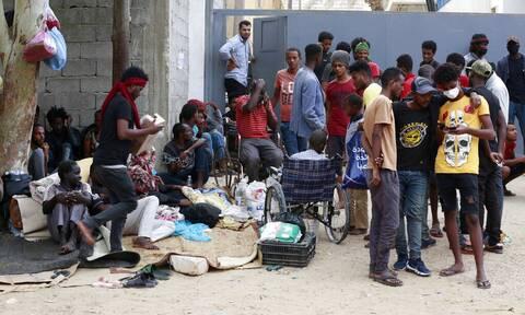 Μετανάστες στην Λιβύη