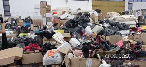 Μεγάλη ανταπόκριση: Συγκεντρώθηκαν τόνοι από ρούχα και τρόφιμα για τους σεισμόπληκτους στην Κρήτη