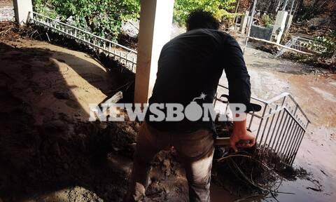 Κακοκαιρία στην Εύβοια – Αποστολή Newsbomb.gr: Μας έκαψαν και τώρα πλημμυρίζουμε, τρέμουμε νέα βροχή