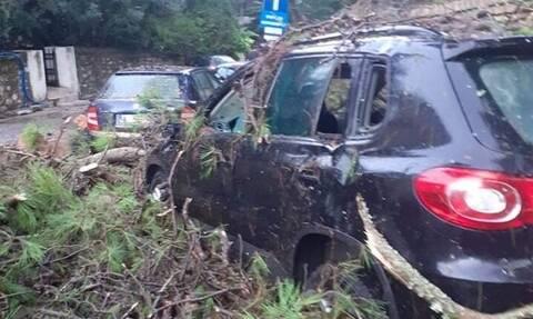 Κέρκυρα: Κατολισθήσεις, πτώσεις δέντρων και ακυρώσεις πτήσεων προκάλεσε η κακοκαιρία