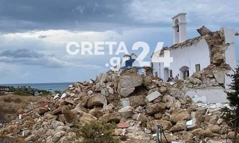Σεισμός στην Κρήτη: Στο εκκλησάκι που γκρεμίστηκε είχε γίνει νονά η Ντέμι Μουρ (photos)