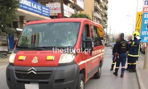 Θεσσαλονίκη: Παράσυρση πεζού από όχημα της Πυροσβεστικής