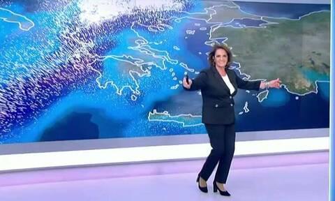 Ο χορός της... κακοκαιρίας: Η Χριστίνα Σούζη χόρεψε «Μπάλλο» (video)