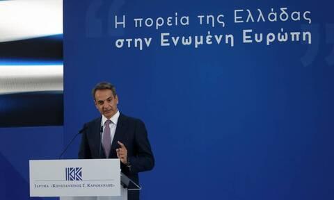 PM Mitsotakis: Constantine Karamanlis' faith in the European dream has radically changed Greece