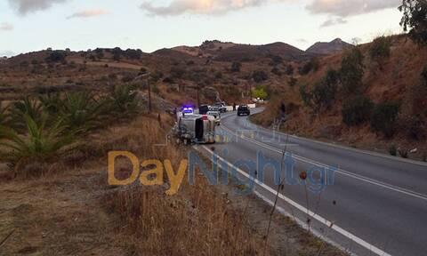 Ρέθυμνο: Το βρεγμένο οδόστρωμα έφερε σοβαρό τροχαίο