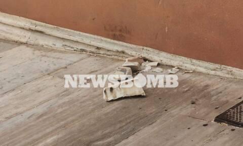 Η κακοκαιρία «Μπάλλος» χτύπησε και τη Βουλή: Έπεσαν μάρμαρα, μπήκαν νερά
