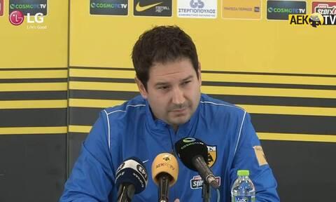 Έτσι ονειρεύεται την ΑΕΚ ο Γιαννίκης: «Να διεκδικούμε τίτλους - Προέχει να δουλέψουμε ένα πλάνο»