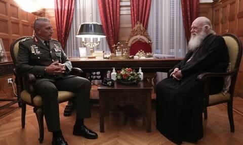 Συνάντηση Αρχιεπισκόπου με Αρχηγό ΓΕΕΘΑ