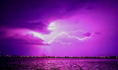 Κακοκαιρία «Μπάλλος»: Σφοδρή καταιγίδα σαρώνει την Κρήτη