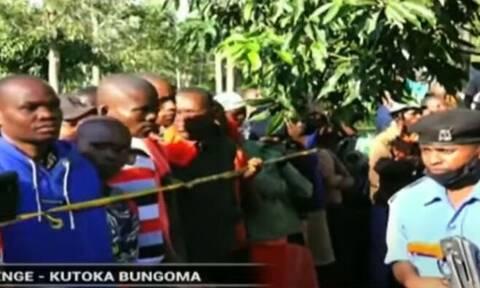 Κένυα: H στιγμή του ξυλοδαρμού μέχρι θανάτου του «σίριαλ κίλερ» παιδιών απο τον όχλο