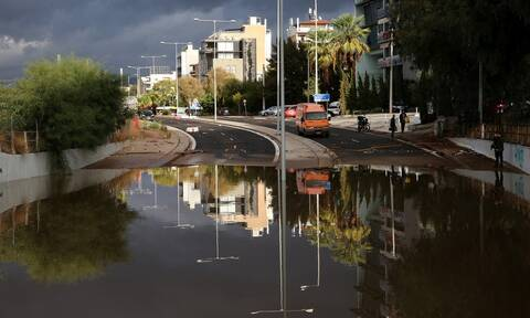 Κακοκαιρία «Μπάλλος»: Πάνω από 170 χιλιοστά βροχής έριξε σε περιοχές της Αθήνας