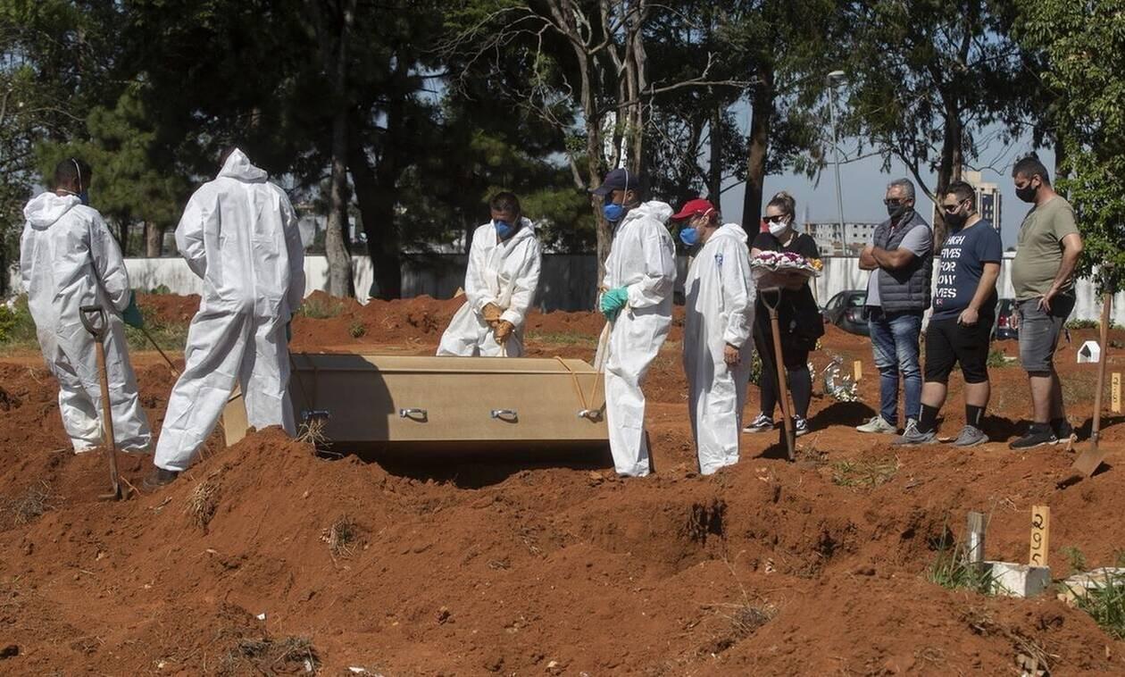 Κορονοϊός- Βραζιλία: 570 νέοι θάνατοι και επιπλέον 15.239 κρούσματα σε 24 ώρες