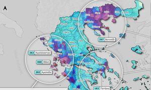Κακοκαιρία «Μπάλος»: Πού σημειώθηκε ρεκόρ βροχής – Οι περιοχές με τα περισσότερα προβλήματα