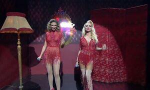 J2US: Λιόλιου και Παναγιώταρου έβαλαν «φωτιά» με το «Moulin Rouge»