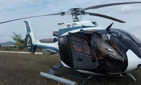 Κοζάνη: Αναγκαστική προσγείωση ελικοπτέρου σε χωράφι (pics - vid)