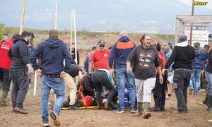 Οι πρώτες εικόνες από το ατύχημα σε πίστα Motocross στα Γιαννιτσά: Δυο σοβαρά τραυματίες