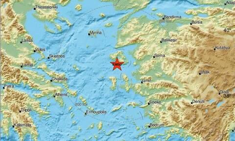 Σεισμός νότια της Μυτιλήνης