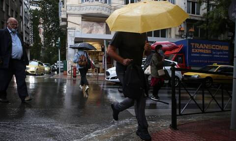 Καιρός Δευτέρα βροχές καταιγίδες