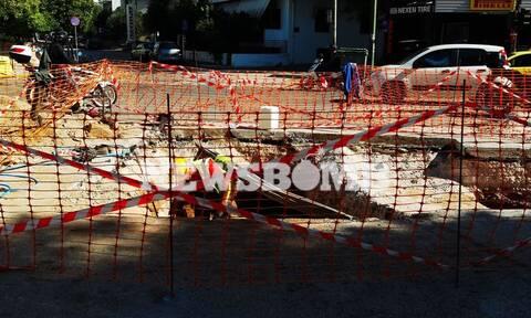 Ρεπορτάζ Newsbomb.gr: Αυτοψία στην «τάφρο» του Χαλανδρίου - Ρεκόρ... ταλαιπωρίας για τους πολίτες