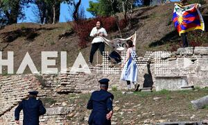 Αρχαία Ολυμπία: Θιβετιανοί αυτονομιστές αιφνιδίασαν την αστυνομία και εισέβαλαν στον ναό της Ήρας